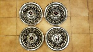 Oldsmobile Wire Spoke Hubcaps 14 Set Of 4 Stainless Hc841