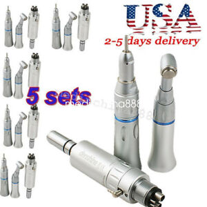 5x Dental Slow Low Speed Handpiece Push Button 4h E type Connection Dentist Oral