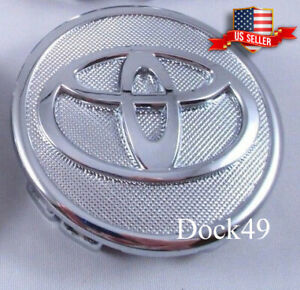 1 Chrome Center Wheel Logo Hub Rim Caps Fits Toyota Prius Corolla Yaris