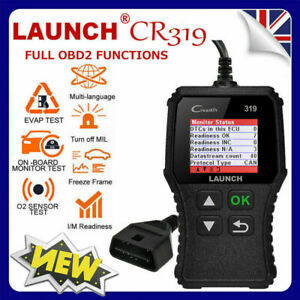 Mazda 6 Obd2 Launch Cr319 Car Diagnostic Tool Reset Scanner Code Reader New Uk
