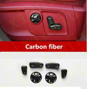 6x Carbon Fiber Front Seat Adjustment Switch Cover For Maserati Ghibli 2014 2020