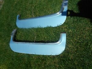 1971 76 Cadillac R L Fender Skirts For Fleetwood Deville Pair Oem Light Blue