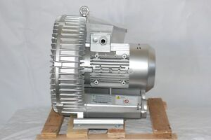 Regenerative Blower 2 8 Hp 221 Cfm 60 h2o Max Pres 220 480v 3ph Ghbh002 34 1r7