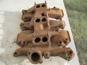 1957 58 Oldsmobile J2 Tri Power Intake Manifold 571145 3x2 371