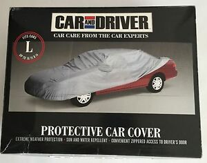 Car Driver Protective Car Cover Size Large Color Silver New