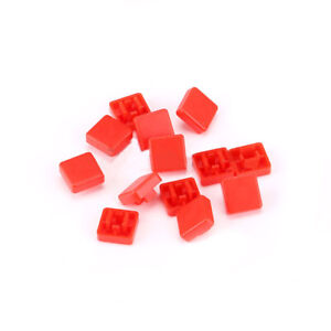 Square Button Cap Red For 12x12x7 3mm Push Button Switch Tact Micro Switch Diy