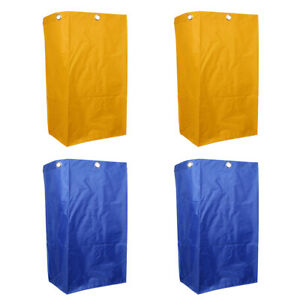4pcs Janitorial Clean Cart Waterproof For Janitorial Clean Cart Yellow