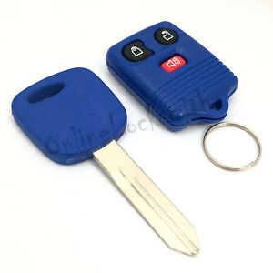 Blue Transponder Car Key H72 And 3 Buttons Blue Keyless Entry Remote Control