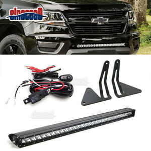 30 150w Led Light Bar lower Bumper Brackets Fit Chevy Colorado Gmc Canyon 15 up