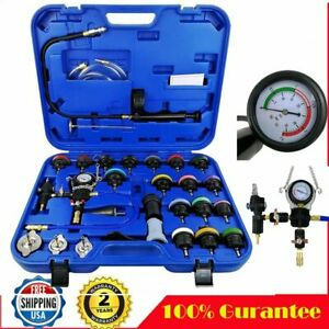 28 Pcs Master Cooling Radiator Pressure Tester With Vacuum Purge And Refill Kit