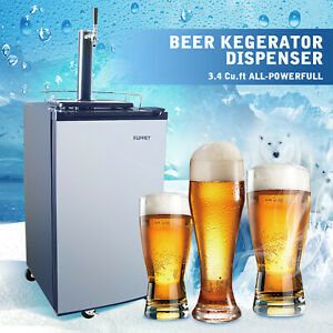 Full Size Kegerator draft Beer Dispenser Refrigerator Cooler 3 4 Cu Ft W co2 Can