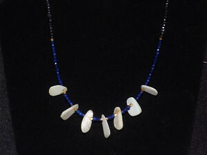 Pre Columbian Axe God Pendant Necklace With Sapphires And Gold