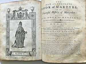 Leather Bound Antique Book Of Martyrs 18th 19th Century
