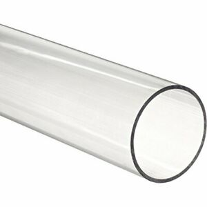 Acrylic Round Tube Clear 4 Id 4 1 4 Od X 36 Length