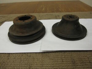 Mopar Small Block Pulleys 2 Grove Crank And 1 Grove Water Pump