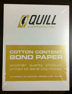 Vintage Quill Corporation 50 Cotton Content Bond Paper 50 911 16 500 Sheets