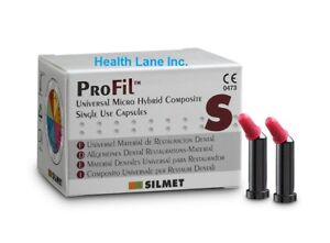 Silmet Profil Dental Micro Hybrid Composite Compules Unidose All Shades Box 20