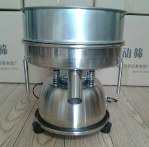 110v 10cm Shaker Stainless Steel Electric Vibrating Sieve Machine With 80 Mesh