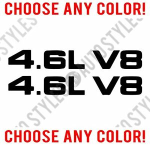 1999 09 Ford Mustang 4 6l V8 Hood Scoop Vinyl Decal Sticker Pair Any Color