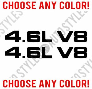 Fits 1999 09 Ford Mustang 4 6l V8 Hood Scoop Vinyl Decal Sticker Pair Any Color
