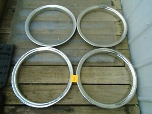 Chevy Gmc Truck Van Dually 16 Stainless Steel Trim Rings Set Of 4 Oem 1