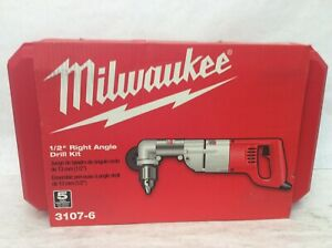 Milwaukee 1 2 In Heavy Right angle Drill corded Kit With Case 3107 6