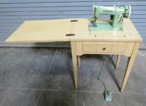 Vintage Singer 185j Sewing Machine With Table 010 2605517