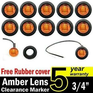 10 Pcs Tmh 3 4 Inch Mount Amber Led Clearance Markers Bullet Marker Lights