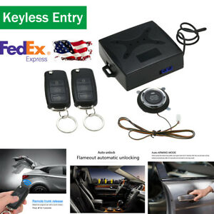 Remote Engine Start Alarm Push Button Security Keyless Entry Trunk Release Auto