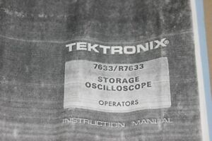 Tektronix 7633 r7633 Storage Oscilloscope Instruction Guide Operating Manual