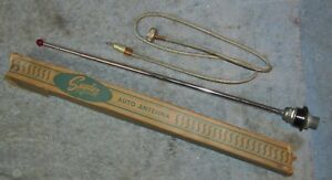 Vintage Snyder Auto Car Antenna Adjustable 50 S Cool Red Tip W Box