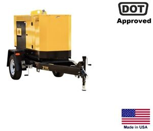 Generator Trailer Mounted Commercial Multi voltage 1 3 Phase 20 Kw