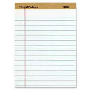Tops the Legal Pad Ruled Perforated Pads Legal wide 8 1 2 X 025932715334