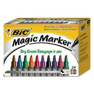 Bic Low Odor And Bold Writing Dry Erase Marker Chisel Tip Asso 070330351684