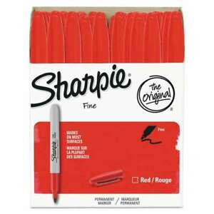 Sharpie Fine Point Permanent Marker Red 36 pack 071641084568