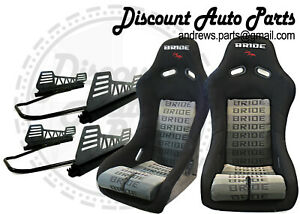 Bride Vios 3 Black Gradation Low Max Iii Pair W V2 Long Mounts And Sliders