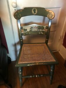 Hitchcock Chair Ltd Edition 1976 Washington Mt Vernon Numbered Cane Seat Green