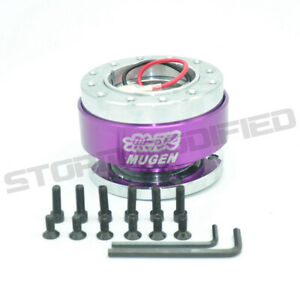 Universal Mugen Purple Steering Wheel Quick Release Hub Adapter Boss Kit