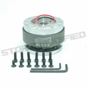 Universal Mugen Gray Steering Wheel Quick Release Hub Adapter Boss Kit