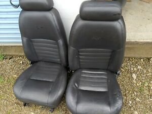 1999 2004 Ford Mustang Gt Black Leather Front Seats Nice Power