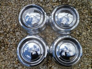 Vintage Nos 1964 Chevy Impala Belair Dog Dish Poverty Hubcaps Wheel Covers