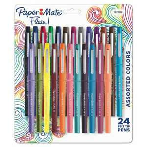 Paper Mate Point Guard Flair Bullet Point Stick Pen Assorted Co 071641115231