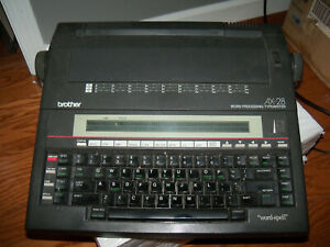 Brother Electronic Portable Typewriter Ax 28 Word Processor