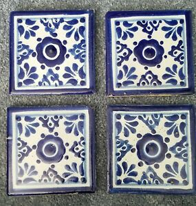 4 Antique 4 X4 Floor Or Wall Tiles Blue And White