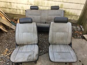 Seat Set Complete Front Rear Bucket And Bench Seats Oem Fj62 Pick Up Only