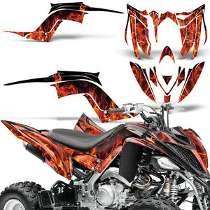 Decal Graphic Kit Yamaha Raptor 700 ATV Quad Decal Wrap 700R Deco 13-18 ICE ORG