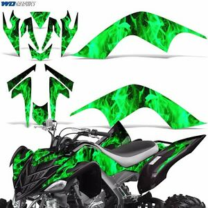 Decal Graphic Kit Yamaha Raptor 700 ATV Quad Decal Wrap 700R Deco 07-12 ICE GRN