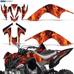 Decal Graphic Kit Yamaha Raptor 700 ATV Quad Decal Wrap 700R Deco 07-12 ICE ORNG