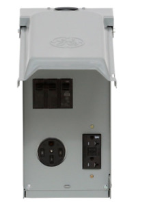 Outlet Box Unmetered Power 70 Amp Rv 50 20 2 space 2 Circuit 240 volt Gfci Plug