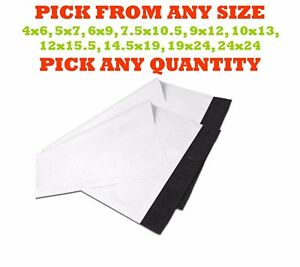 All Sizes Poly Mailers Shipping Envelopes Plastic Mailing Bags Self Sealing